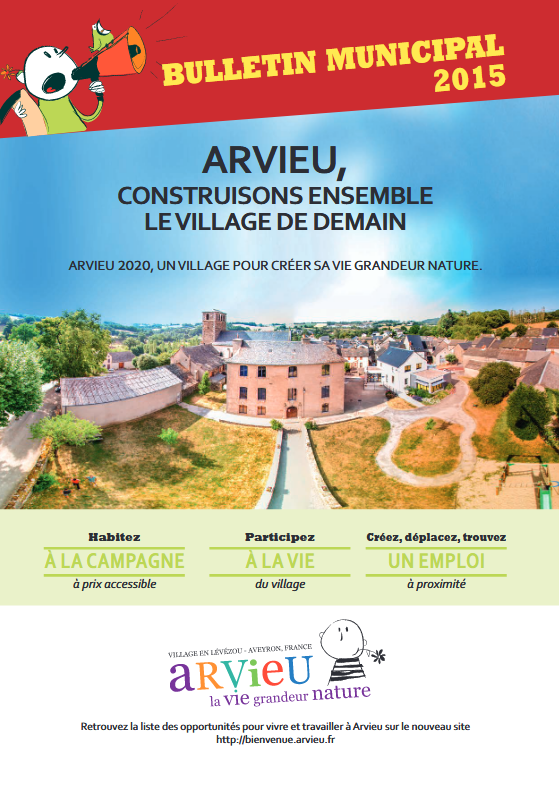 Couverture bulletin municipal 2015 Arvieu