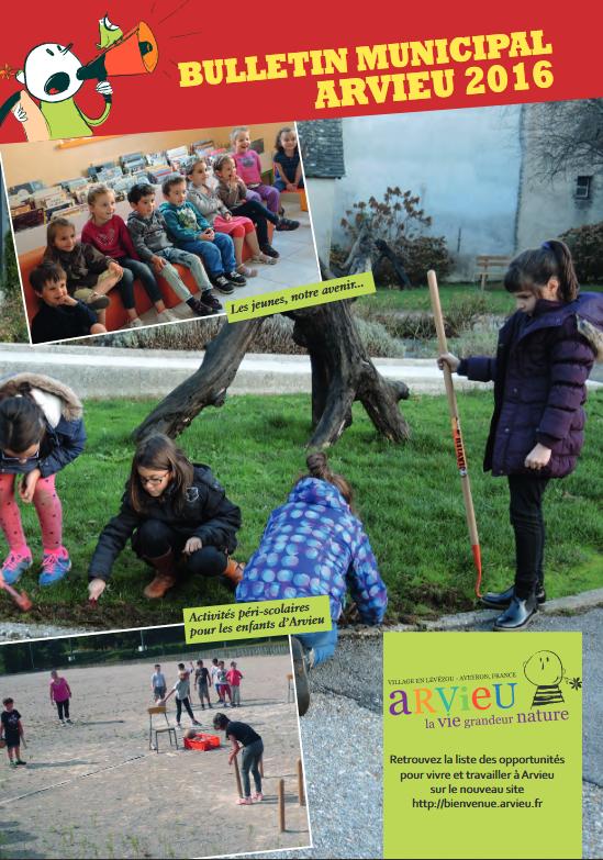 Couverture bulletin municipal 2016 Arvieu