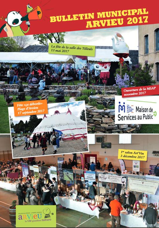 Couverture bulletin municipal 2017 Arvieu