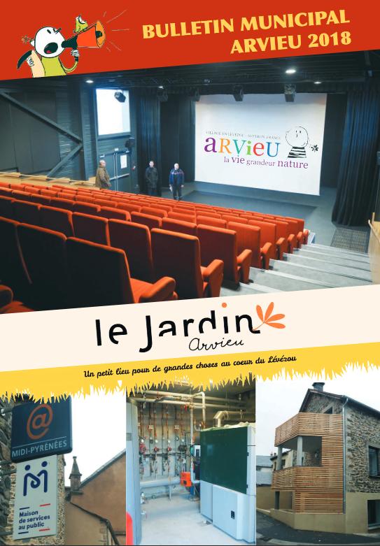 Couverture bulletin municipal 2018 Arvieu