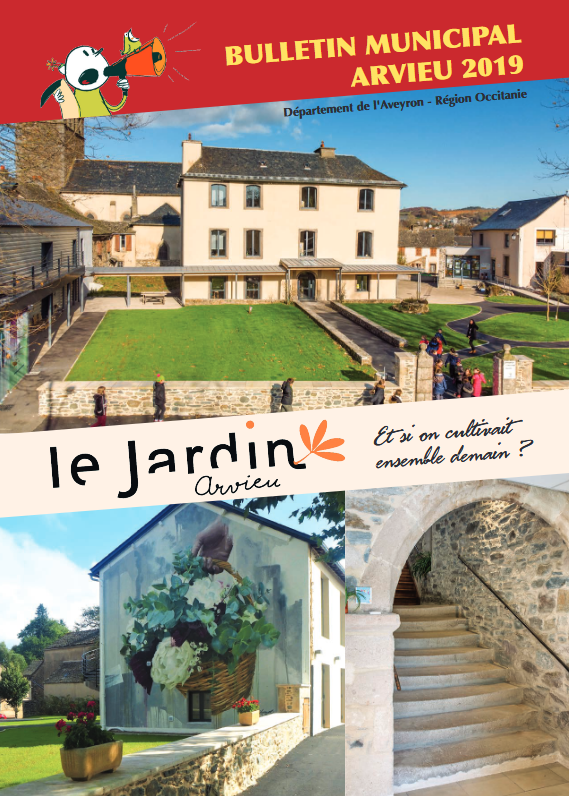 Couverture bulletin municipal 2019 Arvieu